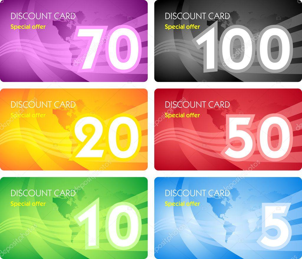 Design of discount card - Set Of Discount Card Templates Stock Vector 4541495