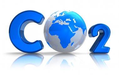 Atmospheric pollution concept: CO2 formula