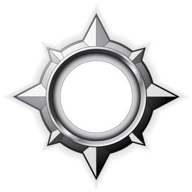 Steel Compass Rose