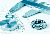 Photo Mechanical scheme and calipers
