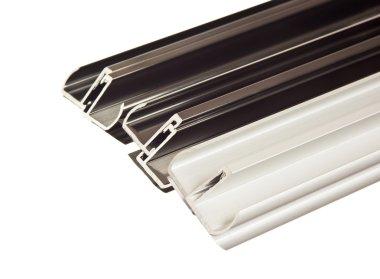 Aluminum profile isolated on white background
