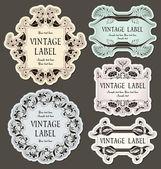 Fotografia set di etichette dannate