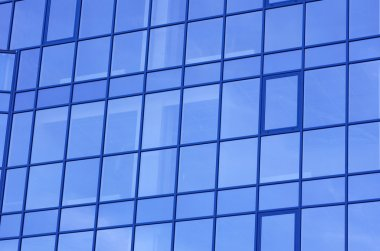 Modern glass apartment blocks of skyscrapers stock vector
