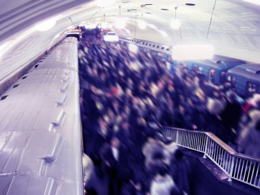 Crowd on the metro station
