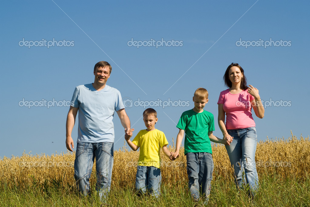 United family walkin in the field