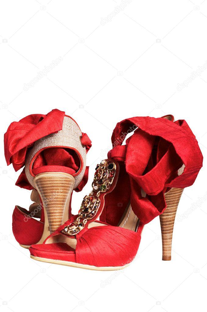 newest 5c48d e3551 Rote Schuhe mit Bänder — Stockfoto © igterex #4463567