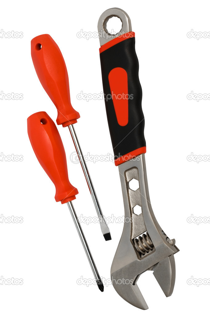 Screwdrivers and a wrench