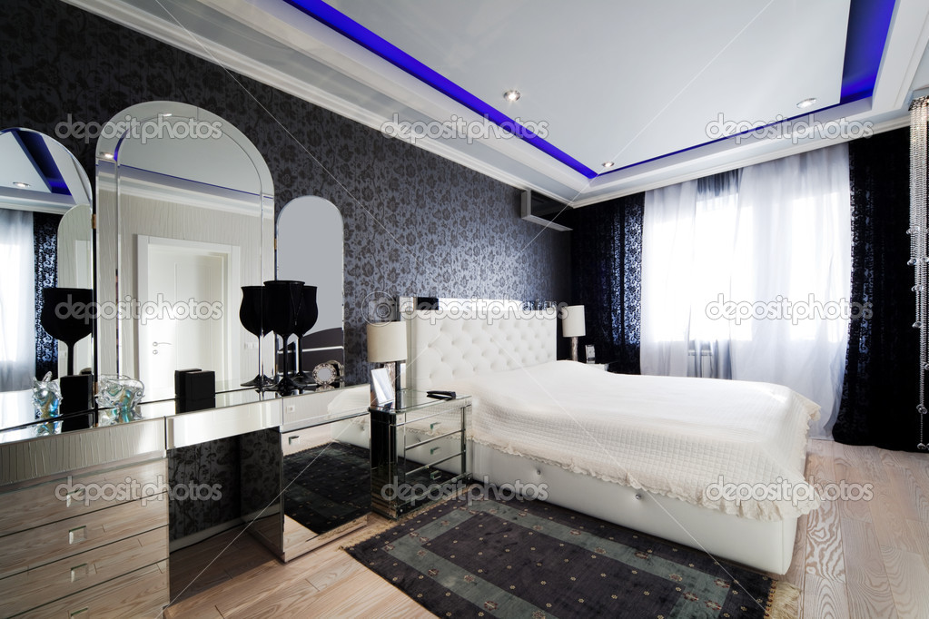 dormitorio moderno — Foto de stock © igterex #4947281