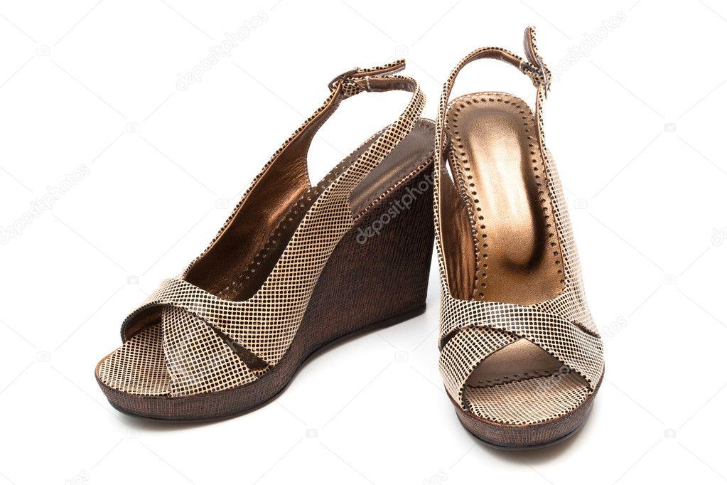 a411056102 braune Frauen Schuhe — Stockfoto © igterex #5219930