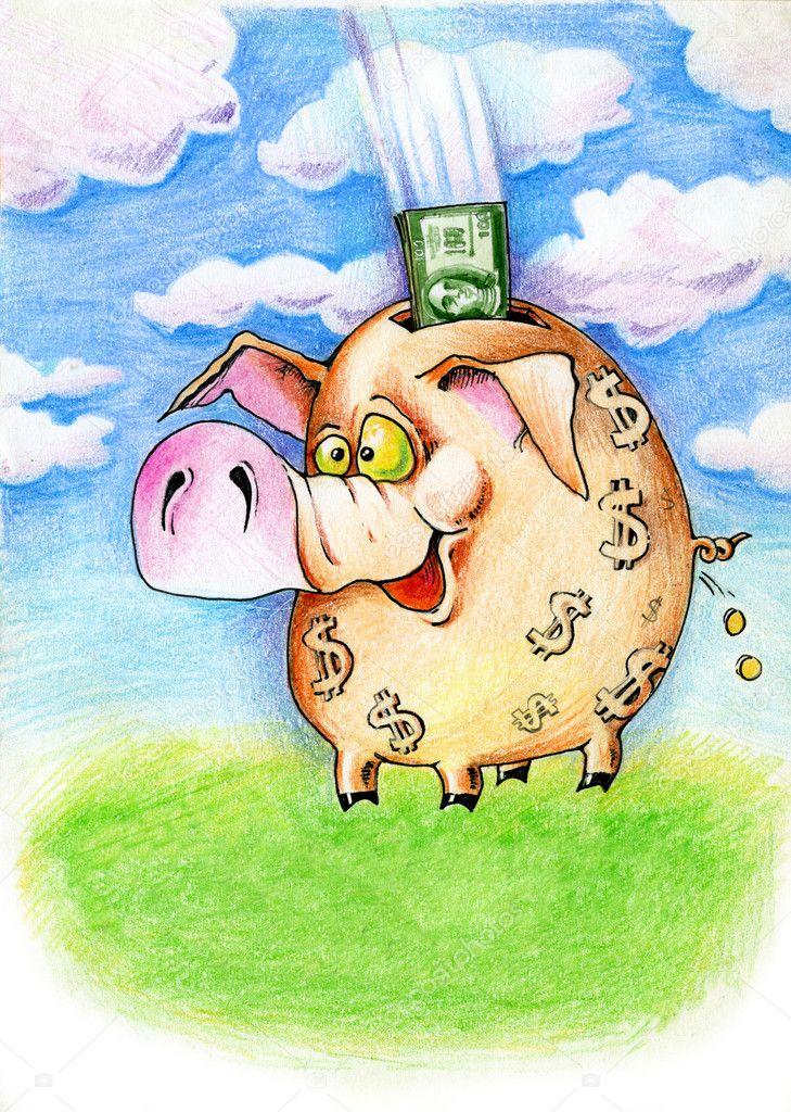 Рисунок смешных денег