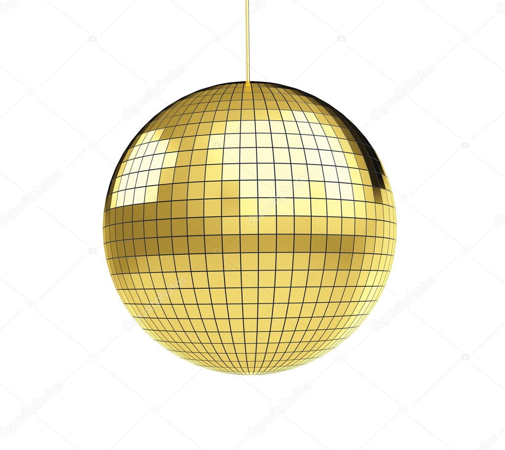 Gold disco disco ball stock photo 3dfoto 4132232 for Image miroir photoshop