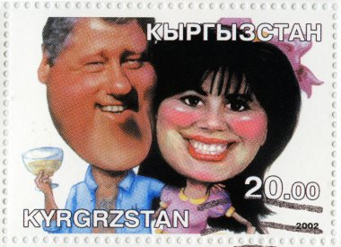 Bill Clinton (L) and Monica Levinsky