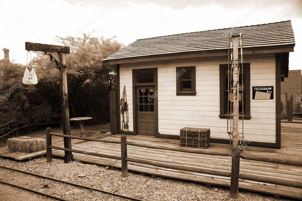 Painter And Decorator Prices >> Old train station in wild west — Stock Photo © konstantin32 #5149881