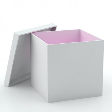 Empty box with pink light