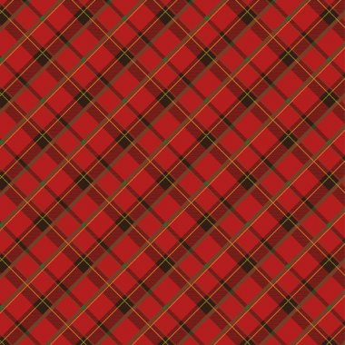 Seamless plaid fabric pattern background. Vector illustration. stock vector