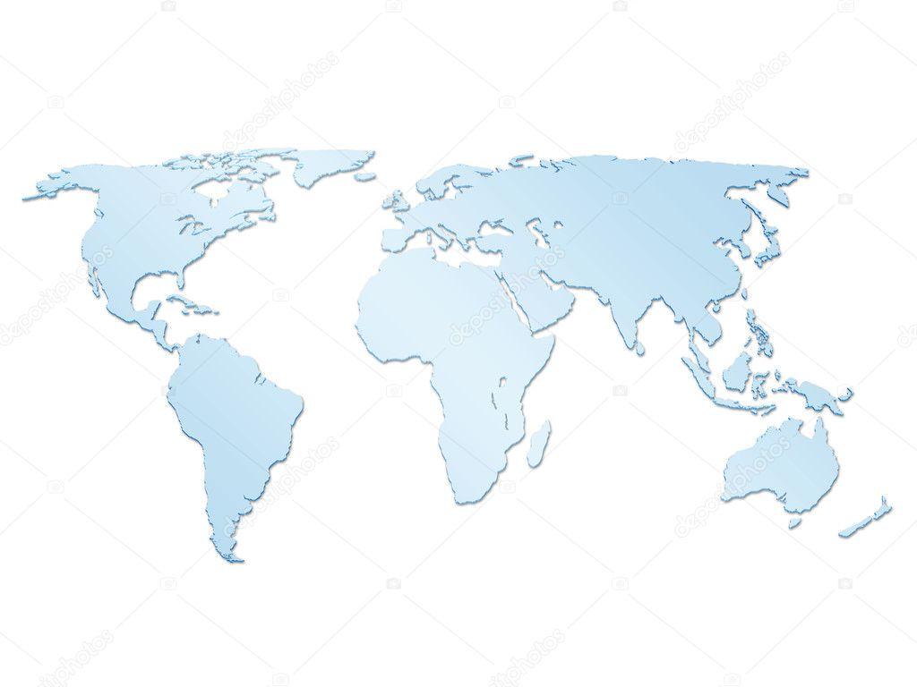 World map 3d 2 stock photo julydfg 4904206 isolated blue world map on a white background photo by julydfg gumiabroncs Gallery