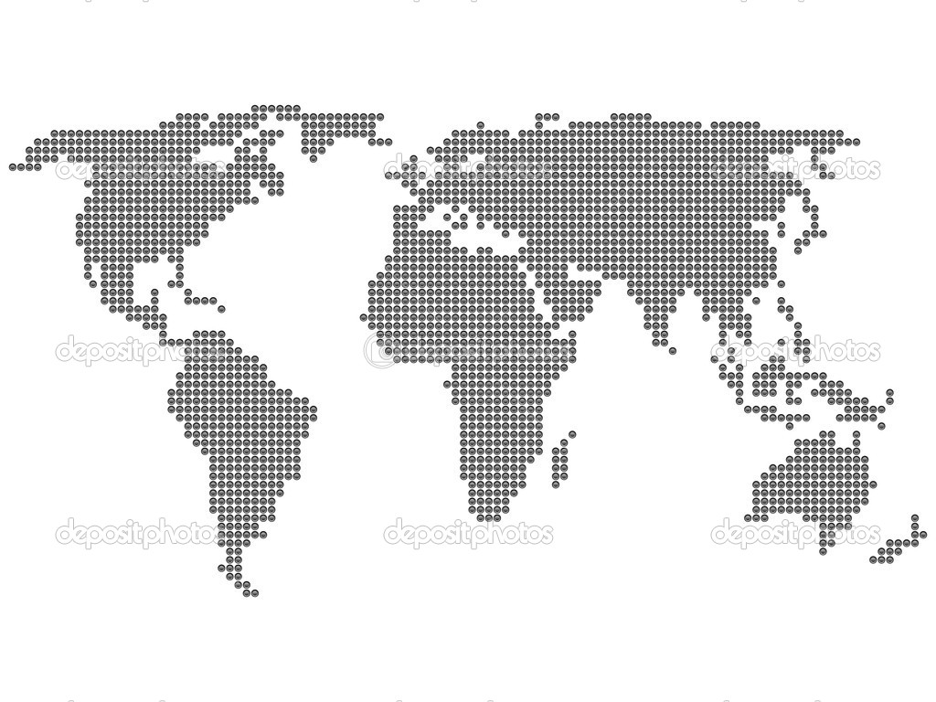 World map circle stock vector julydfg 5191297 world map formed by dots vector illustration vector by julydfg gumiabroncs Choice Image