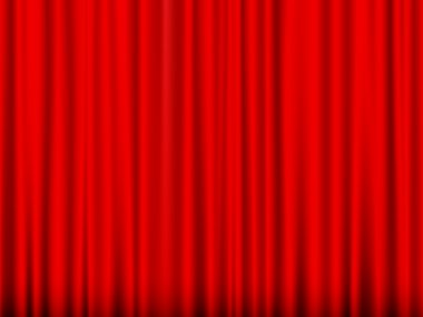 Close view of a red curtain. Vector illustration. stock vector