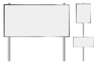 Blank billboard set