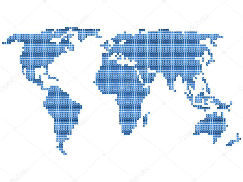World map square stock vector julydfg 5331992 world map square stock vector gumiabroncs Image collections
