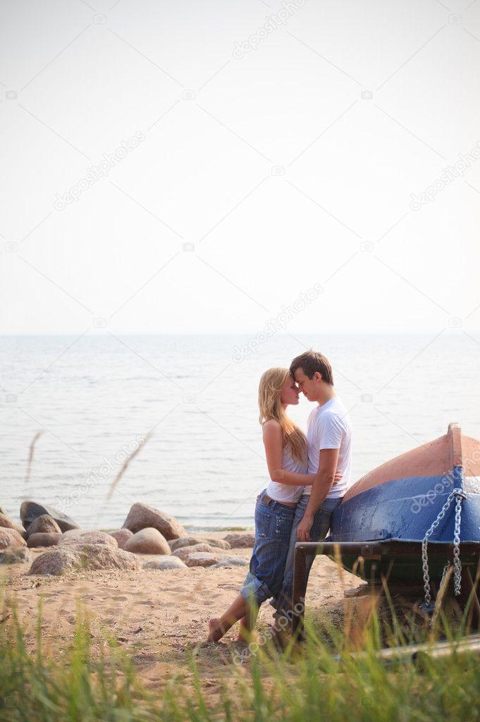 Beautiful couple on a beach