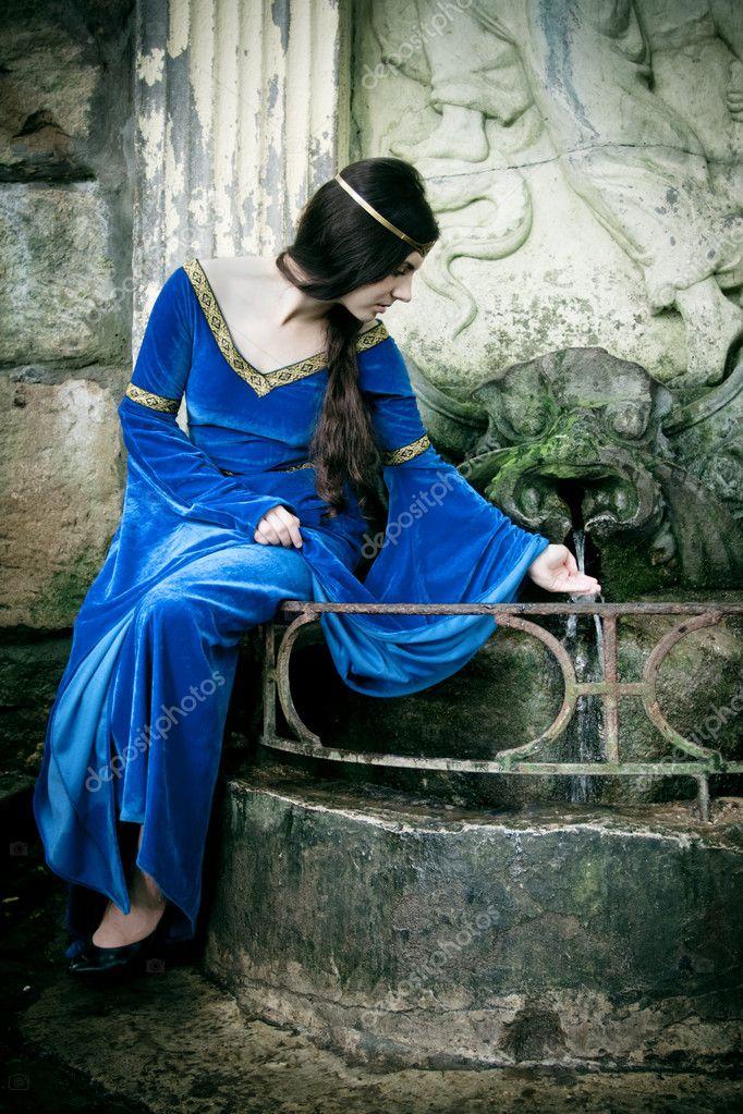 Medieval girl next spring