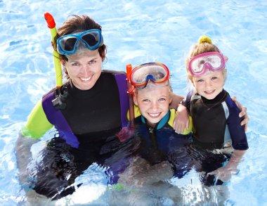 Çocuk Yüzme Havuzu annesi ile.