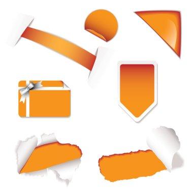 Shop sale elements orange