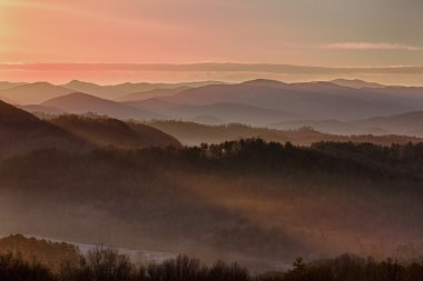 Sunrise over Smoky Mountains
