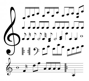 Musical signs. Notes