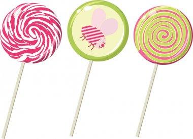 Set of the lollipops. Vector