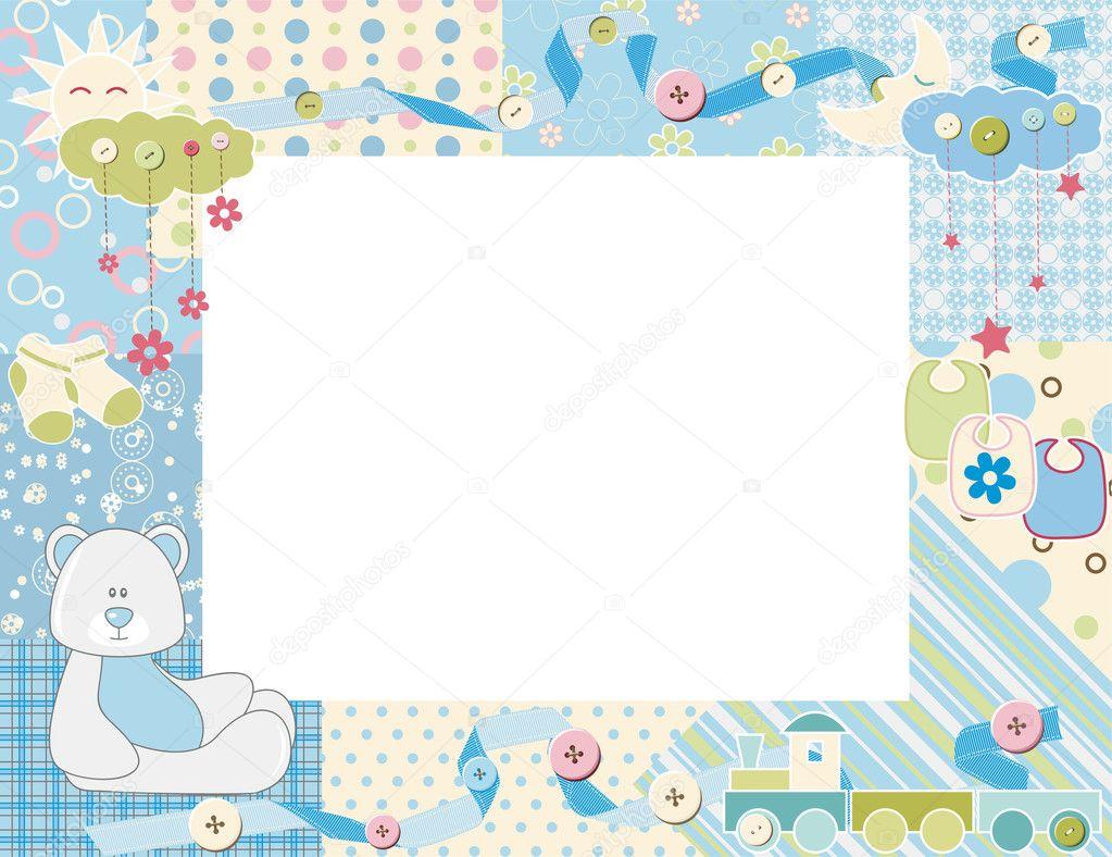 marco de foto del niño. Vector — Archivo Imágenes Vectoriales ...