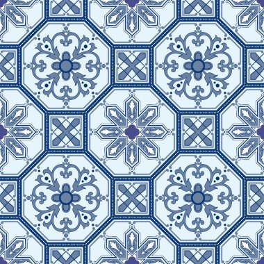 Seamless ornamental oriental pattern vector background