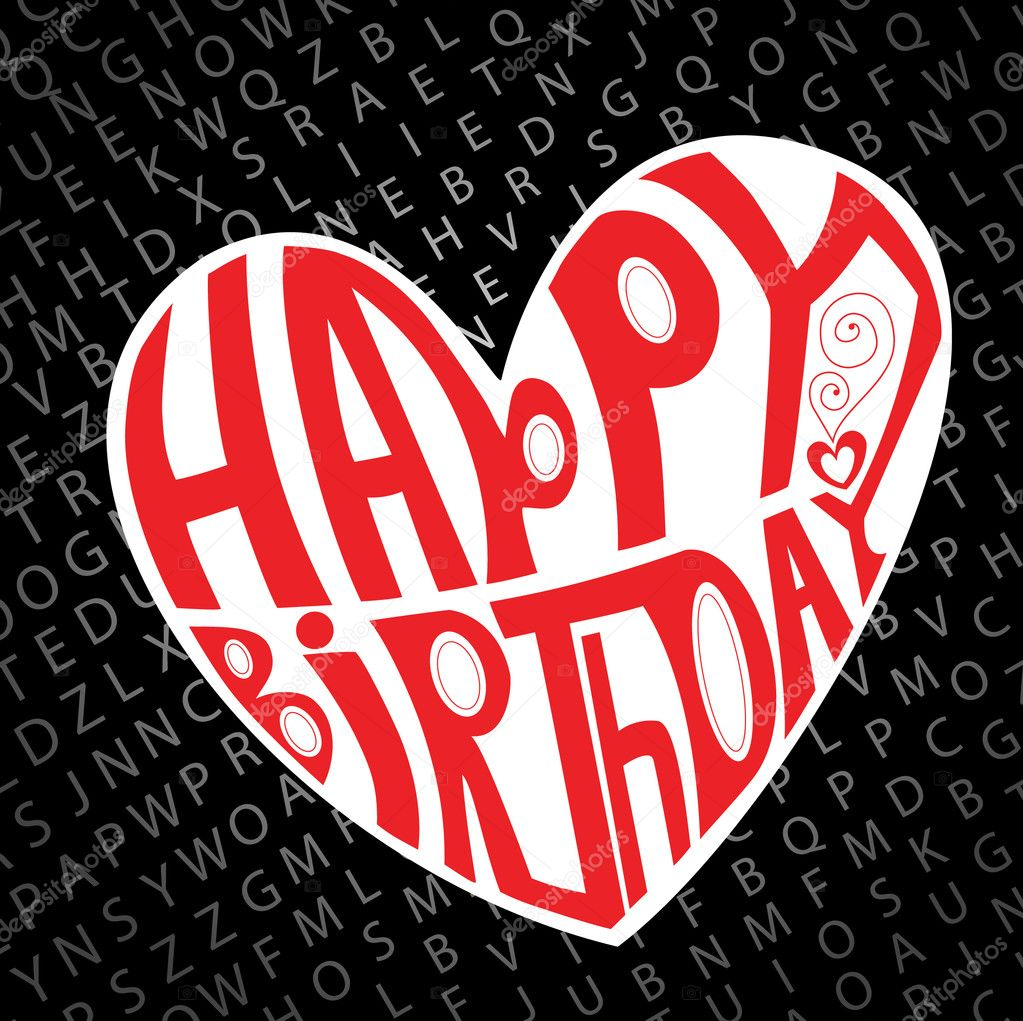 Alles Gute Zum Geburtstag Herz Stockvektor C Helenka 4065869