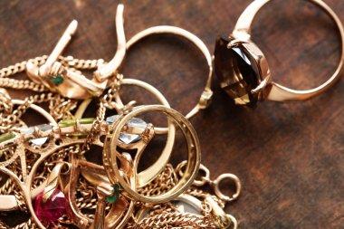 Jewelry On Wood
