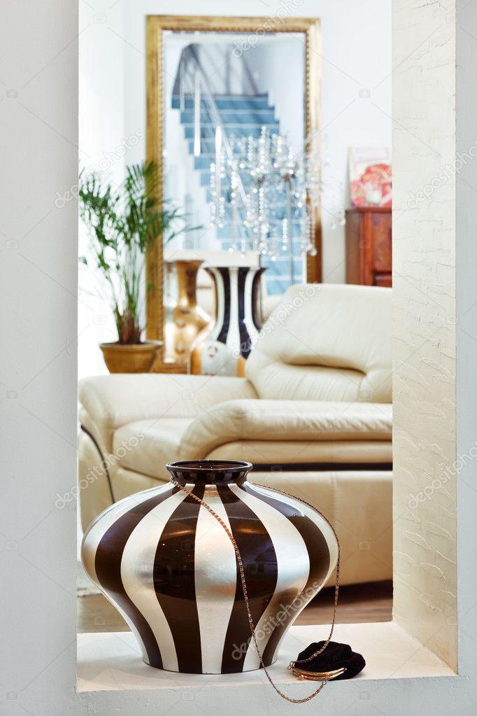 Teil des Salon-Interieur modern Art-Deco-Stil mit ...