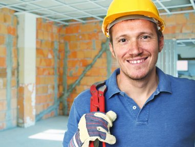 Smiling manual worker