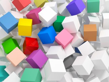 Fine image 3d of different colors cube abstract background stock vector