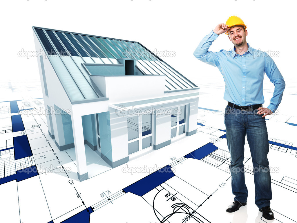 Architect With His Project Stock Photo Jukai5 5305858