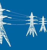 Fotografie vektor elektrické vedení