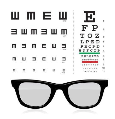 Vector Snellen eye test