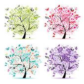 Fotografia insieme di alberi floreali bellissimo per il vostro disegno