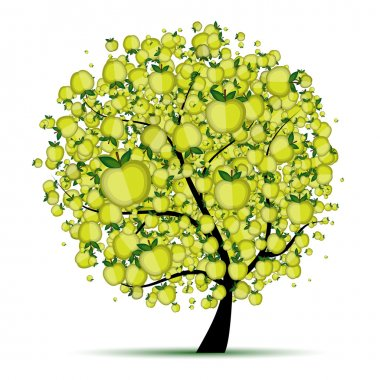 Energy apple tree for your design
