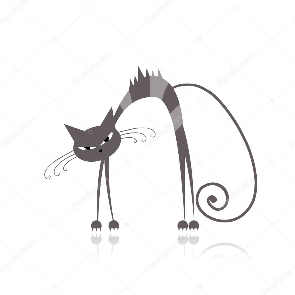 evil cartoon cat - 700×700