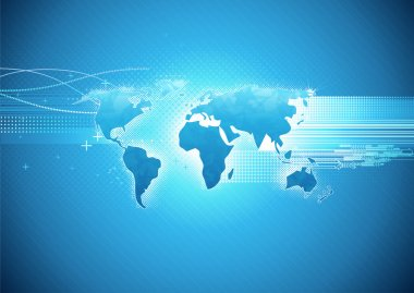 Glossy world map