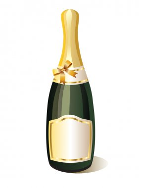 A bottle of champagne.