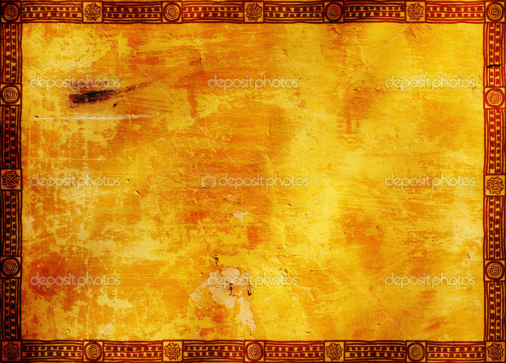 Frame With American Indian Traditional Patterns Stock