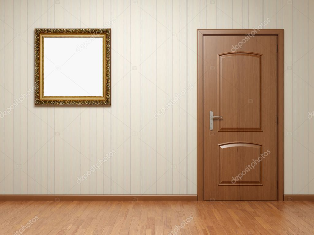 empty room with door and frame stock photo 4726891