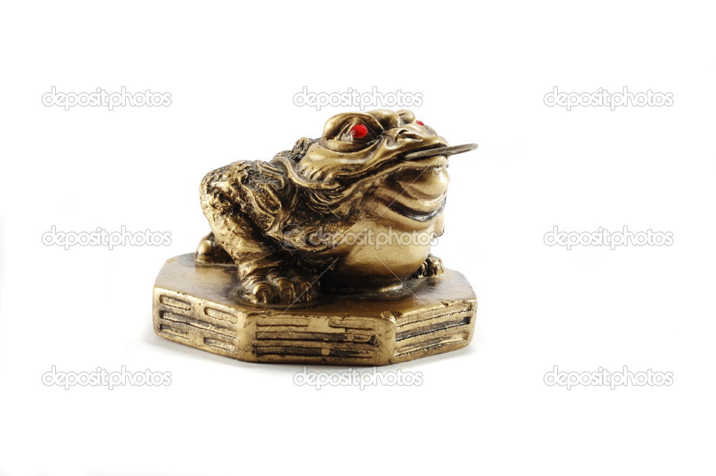Chinese Feng Shui Money Frog Or Chan Chu Symbol Of Wealth Stock