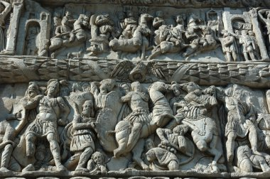 Bas-relief of famous Arch of Galerius in Thessaloniki, Greece